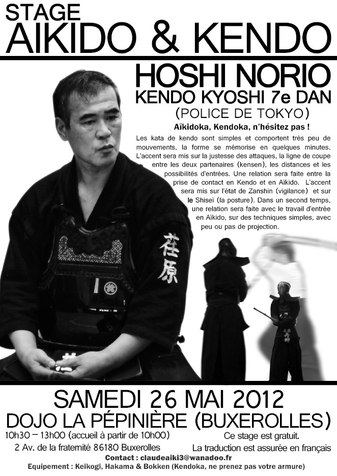Stage Poitiers Entretien avec Hoshi Norio : Un Kendoka hors normes