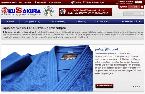 KuSakuraShop.fr - La référence des équipements de Judo Haut de Gamme